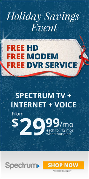 Example 300x600 ads from Charter Spectrum